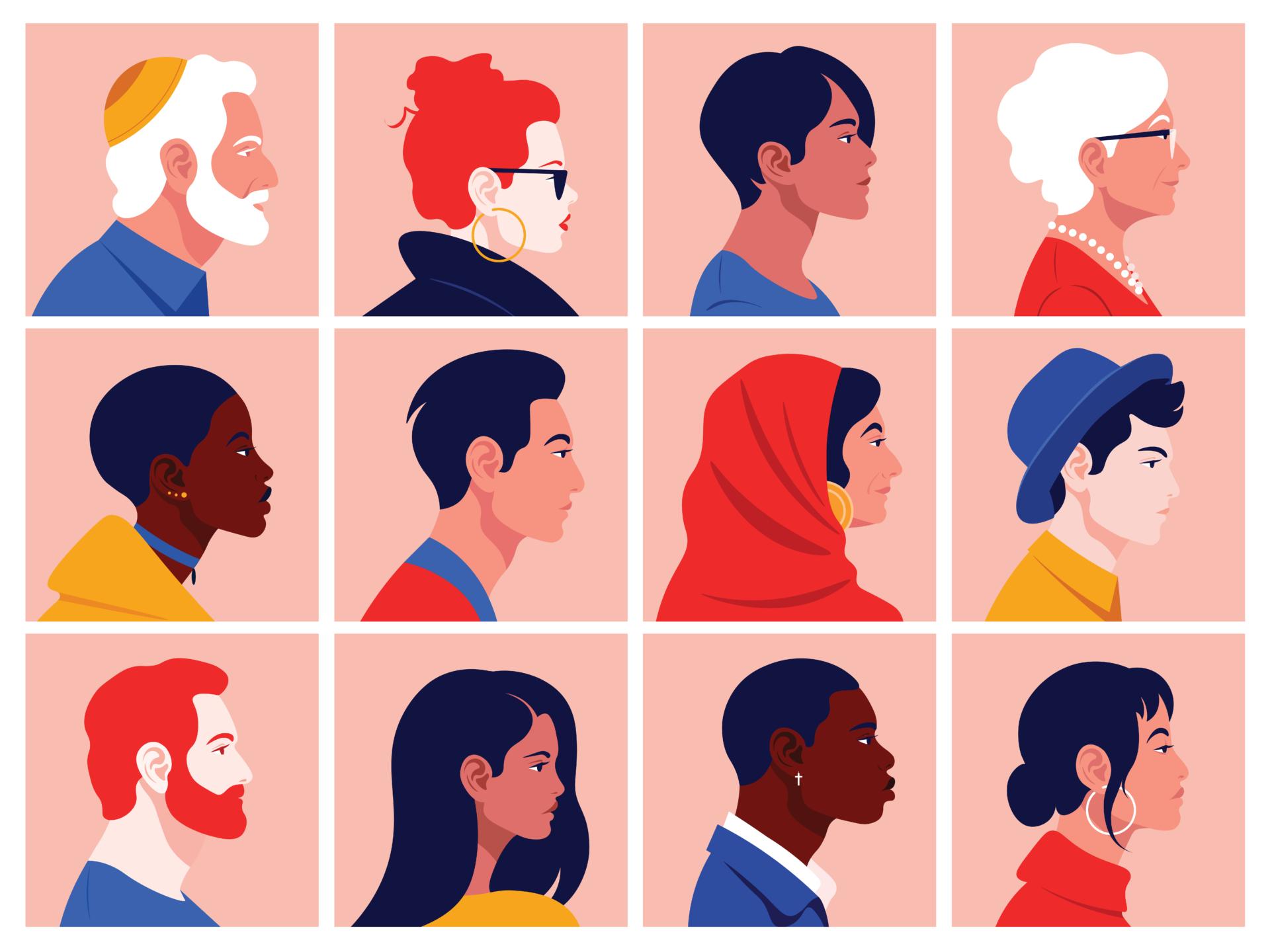 illustration of diverse patients